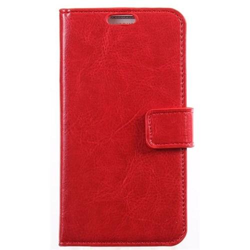 Teleplus Sony Xperia Z Cüzdanlı Kırmızı Kılıf
