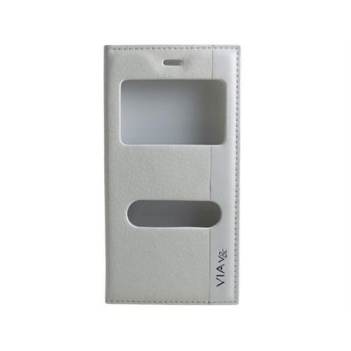 Teleplus Casper Via V8c Çift Pencereli Kılıf Beyaz