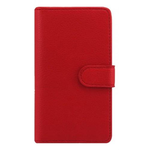 Teleplus Nokia Lumia 625 Kırmızı Cüzdanlı Deri Kılıf