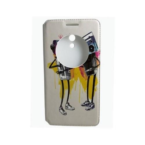 Teleplus Asus Zenfone 6 Pencereli Uyku Modlu Kılıf Müzik