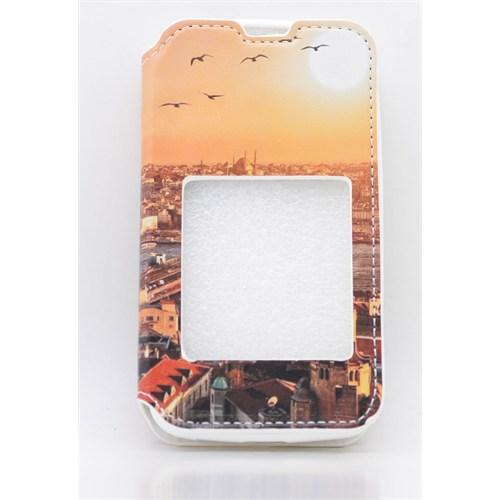 Teleplus Nokia Lumia 530 Pencereli Desenli Kılıf Doga