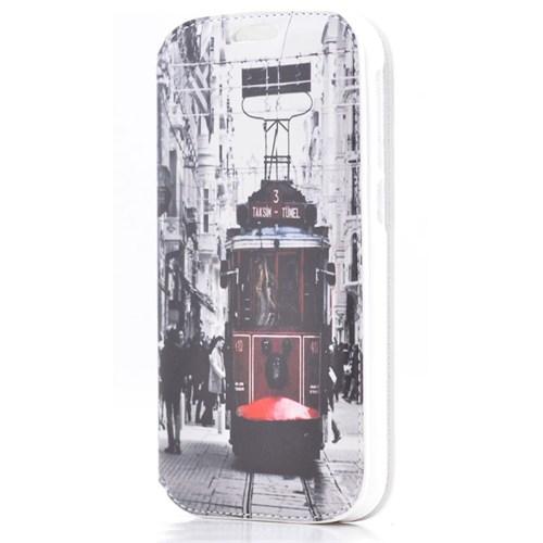 Teleplus Vodafone Smart 4 Taksim Desenli Kılıf