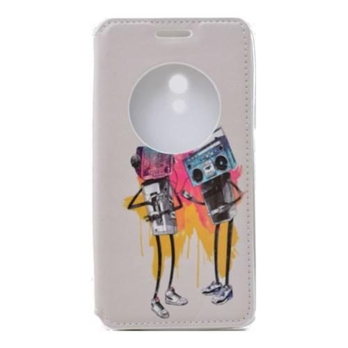 Teleplus Asus Zenfone 5 Pencereli Uyku Modlu Kılıf Müzik