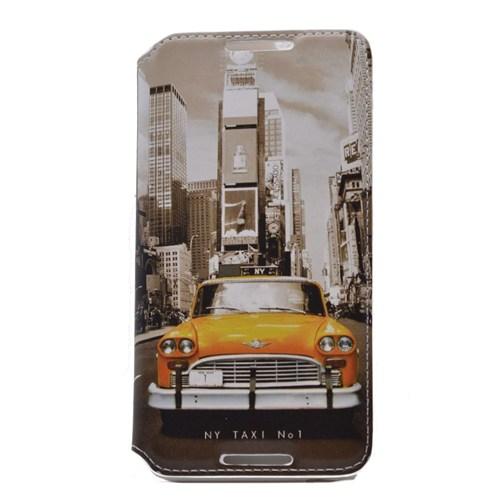 Teleplus Htc Desire 820 Mıknatıslı Taksi Desenli Kılıf