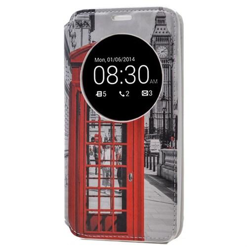 Teleplus Asus Zenfone 2 Desenli Pencereli Kılıf Telefon