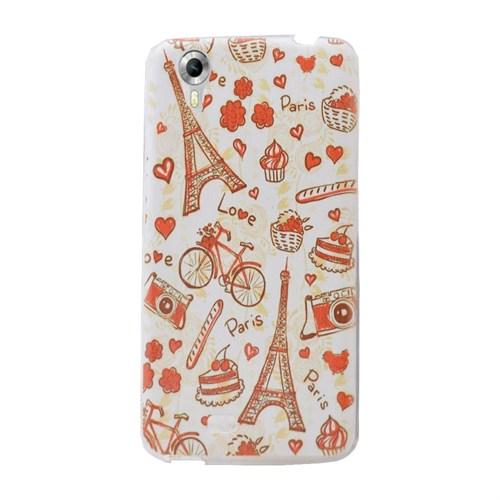 Android One 4G Desenli Silikon Kılıf Paris Love