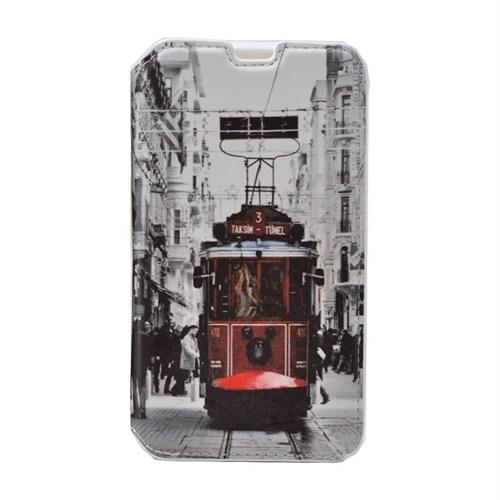 Teleplus Huawei P8 Lite Desenli Standlı Kılıf Taksim