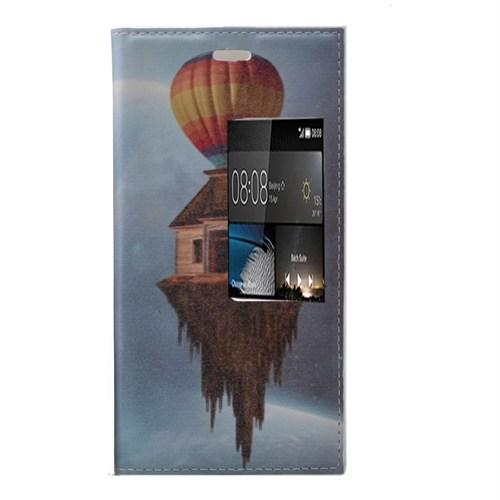 Teleplus Huawei P8 Desenli Pencereli Kılıf Balon