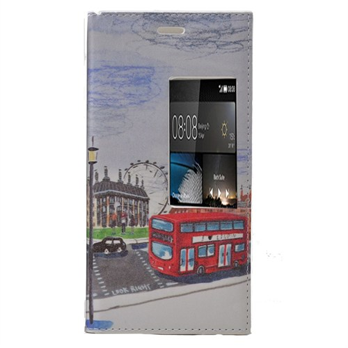 Teleplus Huawei P8 Desenli Pencereli Kılıf Otobüs