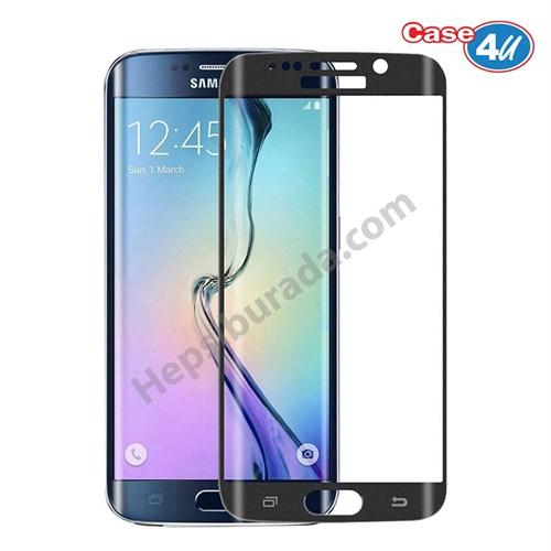 Case 4U Samsung Galaxy S7 3D Kavisli Kırılmaz Cam Ekran Koruyucu Siyah