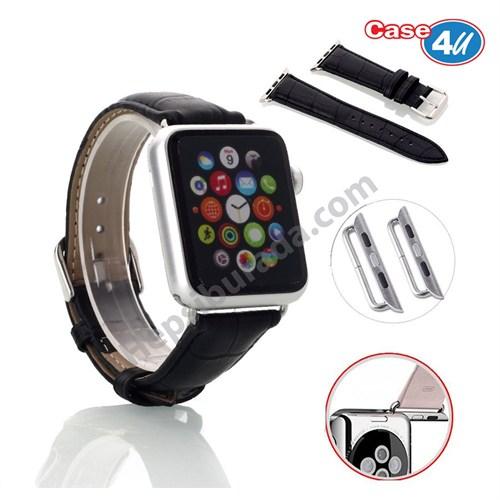 Case 4U Apple Watch 42mm Kordon Kayış Toka Bağlantı Adaptörü Siyah