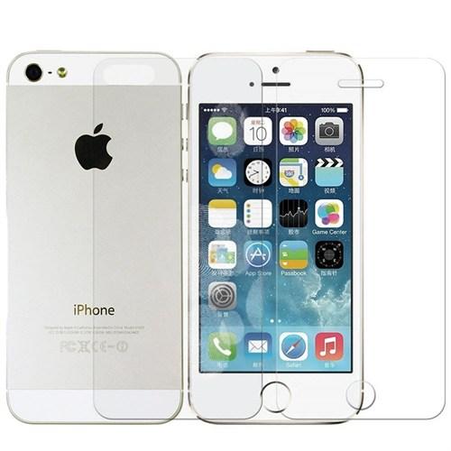 Sonmodashop Apple iPhone 5S Ön Arka Temperli Cam Kırılmaz Ekran