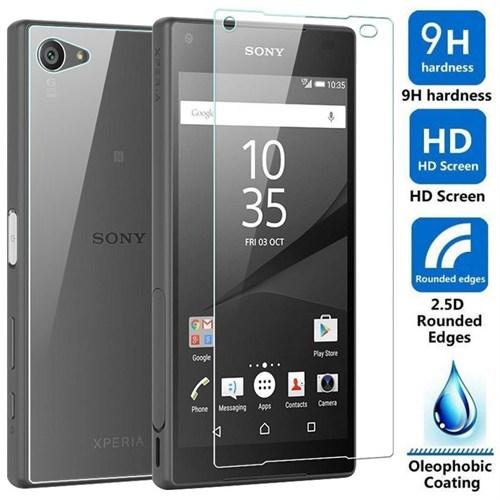 Sonmodashop Sony Xperia Z5 Compact Ön Arka Temperli Cam Kırılmaz Ekran