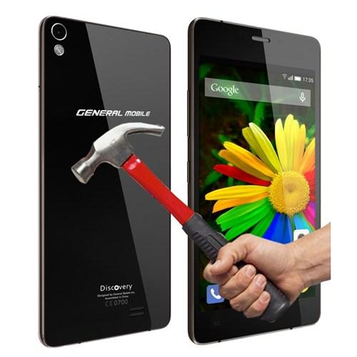 Sonmodashop General Mobile Discovery Air Ön Arka Temperli Cam Kırılmaz Ekran