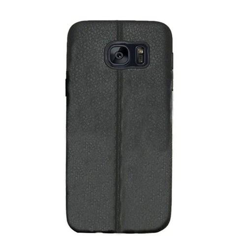 Kılıfshop Samsung Galaxy S7 Edge Silikon Kılıf Dikiş Desenli