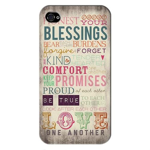 Cover&Case Apple İphone 4 / 4S Silikon Tasarım Telefon Kılıfı Ccs01-Ip01-0025