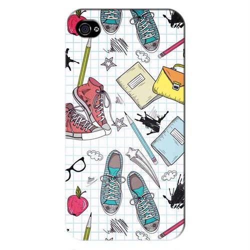 Cover&Case Apple İphone 4 / 4S Silikon Tasarım Telefon Kılıfı Ccs01-Ip01-0089