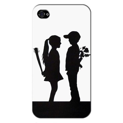Cover&Case Apple İphone 4 / 4S Silikon Tasarım Telefon Kılıfı Ccs01-Ip01-0116