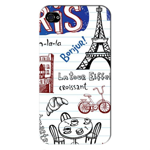 Cover&Case Apple İphone 4 / 4S Silikon Tasarım Telefon Kılıfı Ccs01-Ip01-0162