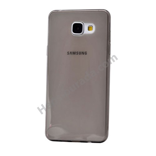 Fonemax Samsung A710 Galaxy A7 (2016) Ultra İnce Silikon Kılıf Füme
