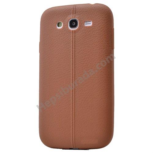 Fonemax Samsung Galaxy J1 Desenli Silikon Kılıf Kahverengi