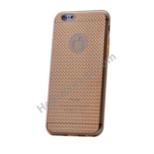 Fonemax Apple İphone 6 Plus Elegance Silikon Kılıf Altın