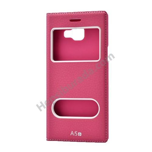 Fonemax Samsung A510 Galaxy A5 (2016) Dolce Kapaklı Kılıf Koyu Pembe