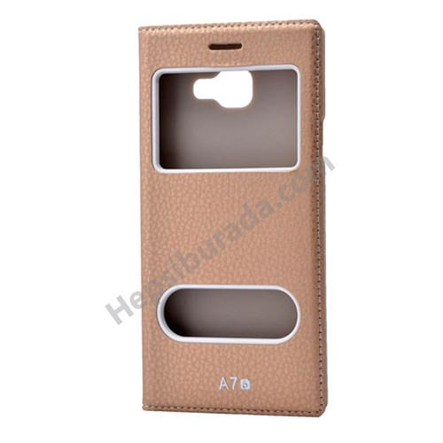 Fonemax Samsung A710 Galaxy A7 (2016) Dolce Kapaklı Kılıf Altın