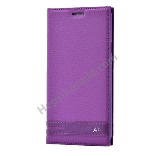 Fonemax Samsung A710 Galaxy A7 (2016) Gizli Mıknatıslı Kapaklı Kılıf Mor