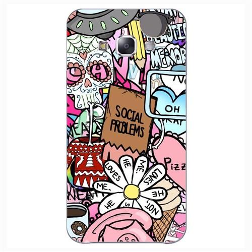Cover&Case Samsung Galaxy E5 Silikon Tasarım Telefon Kılıfı Ccs02-E01-0033