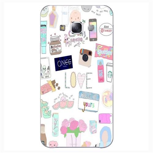 Cover&Case Samsung Galaxy E5 Silikon Tasarım Telefon Kılıfı Ccs02-E01-0039
