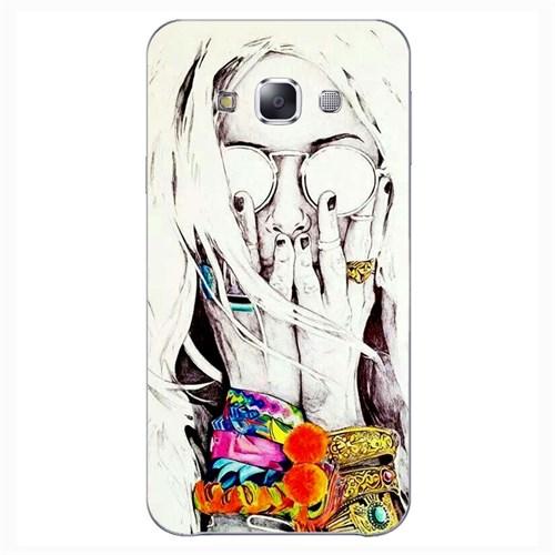 Cover&Case Samsung Galaxy E7 Silikon Tasarım Telefon Kılıfı Ccs02-E02-0215