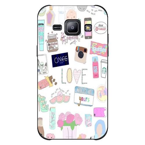 Cover&Case Samsung Galaxy J2 Silikon Tasarım Telefon Kılıfı Ccs02-J02-0039