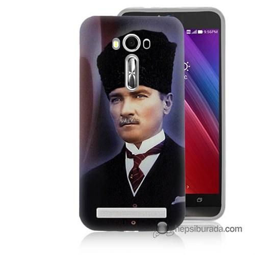 Teknomeg Asus Zenfone Laser 5.0 Kılıf Kapak Mustafa Kemal Atatürk Baskılı Silikon