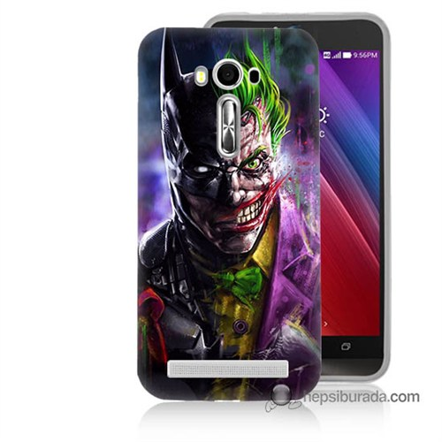 Teknomeg Asus Zenfone Laser 5.0 Kılıf Kapak Batman Vs Joker Baskılı Silikon