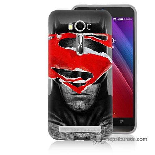 Teknomeg Asus Zenfone Laser 5.0 Kapak Kılıf Batman Vs Superman Baskılı Silikon