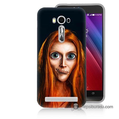 Teknomeg Asus Zenfone Laser 5.0 Kılıf Kapak Zombie Kız Baskılı Silikon