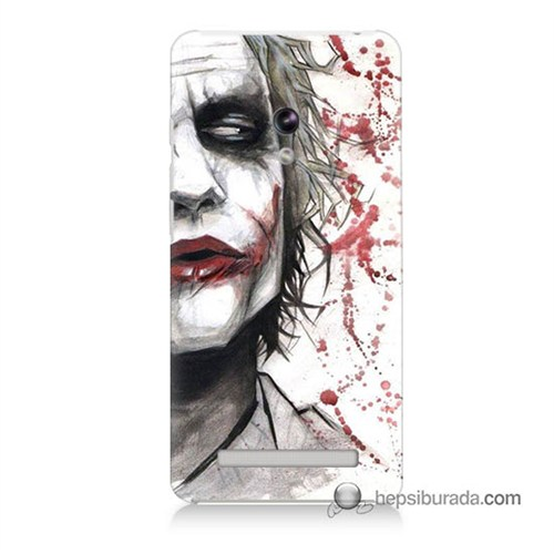 Teknomeg Asus Zenfone 5 Lite Kapak Kılıf Kanlı Joker Baskılı Silikon