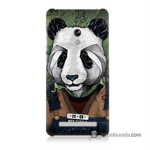 Teknomeg Asus Zenfone 5 Lite Kapak Kılıf İşçi Panda Baskılı Silikon