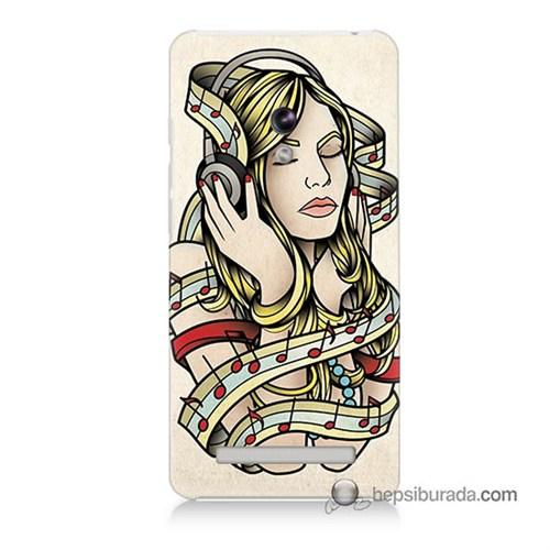 Teknomeg Asus Zenfone 5 Lite Kapak Kılıf Müzik Aşkı Baskılı Silikon