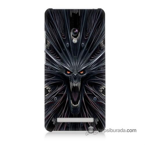 Teknomeg Asus Zenfone 5 Lite Kılıf Kapak Korku Canavarı Baskılı Silikon