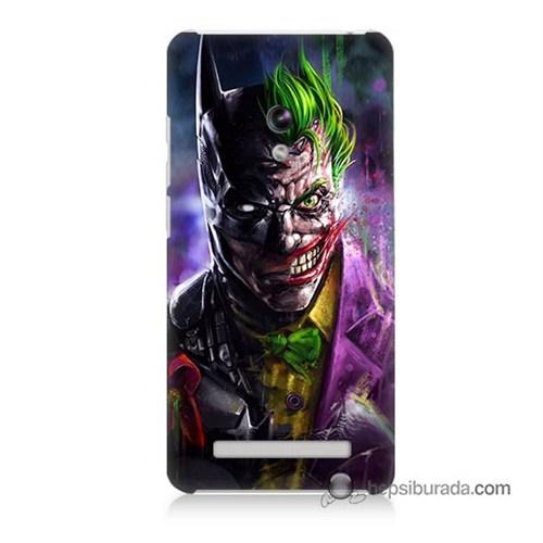 Teknomeg Asus Zenfone 5 Lite Kılıf Kapak Batman Vs Joker Baskılı Silikon