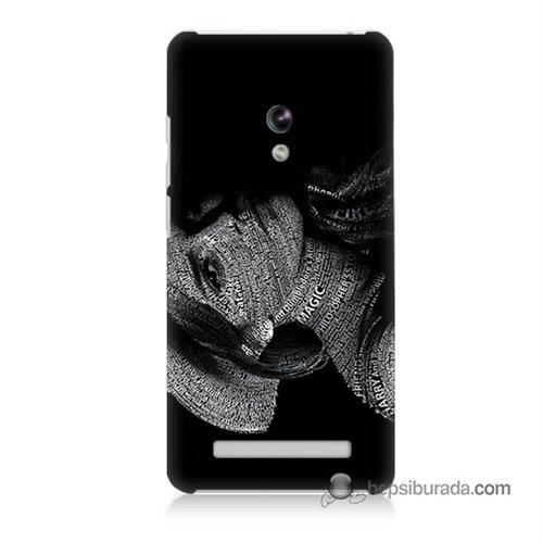 Teknomeg Asus Zenfone 5 Lite Kılıf Kapak Yazılı Kadın Baskılı Silikon