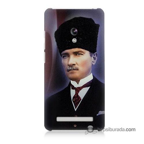 Teknomeg Asus Zenfone 6 Kılıf Kapak Mustafa Kemal Atatürk Baskılı Silikon