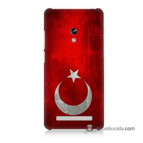 Teknomeg Asus Zenfone 6 Kılıf Kapak Türkiye Bayrağı Baskılı Silikon