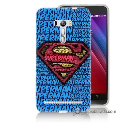 Teknomeg Asus Zenfone Selfie Kapak Kılıf Süpermen Baskılı Silikon