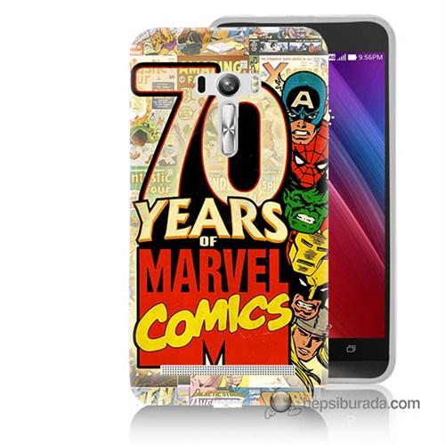 Teknomeg Asus Zenfone Selfie Kılıf Kapak Marvel Karakterleri Baskılı Silikon