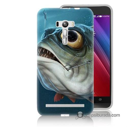 Teknomeg Asus Zenfone Selfie Kapak Kılıf Balık Baskılı Silikon