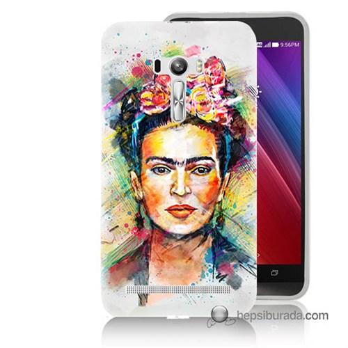 Teknomeg Asus Zenfone Selfie Kapak Kılıf Frida Baskılı Silikon