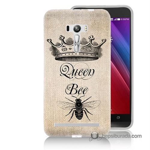 Teknomeg Asus Zenfone Selfie Kılıf Kapak Queen Bee Baskılı Silikon